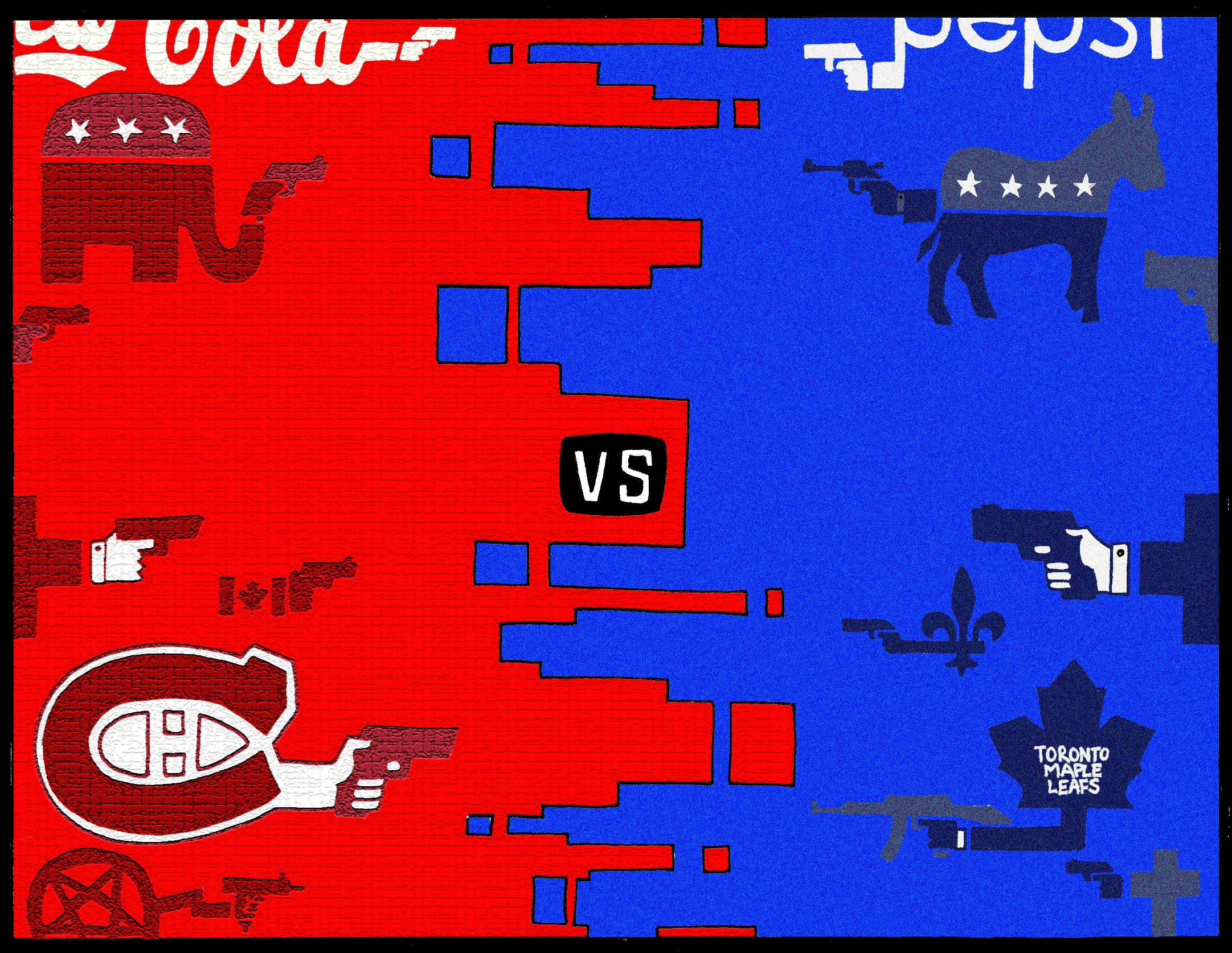 Canadiens versus the maple leafs color based rivalries for a color